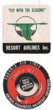 2 unusual small Airlines labels luggage scarce  #380
